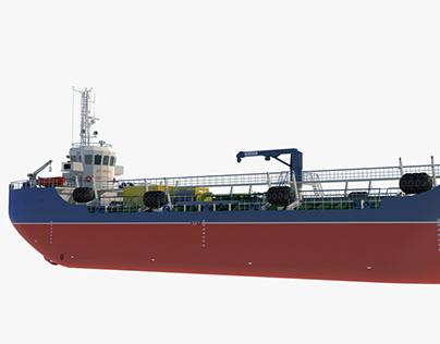 Bunker Vessel - 3D Modeling & Turntable Presentation