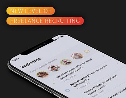 Smartjobr – Freelance Recruiting App UI/UX Design