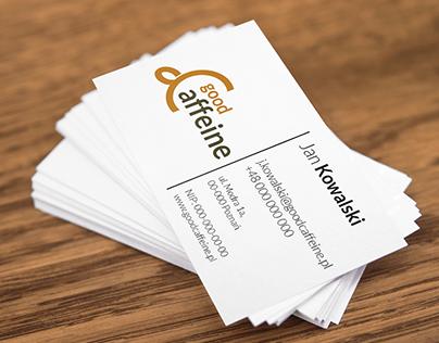 Good Caffeine business card
