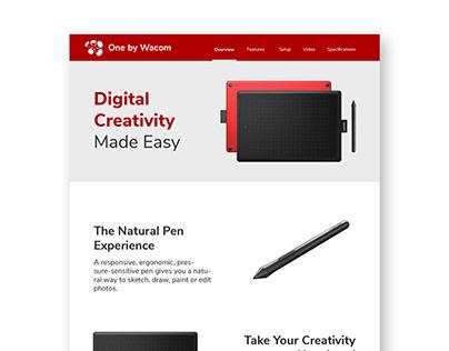 One Page Website - One by Wacom