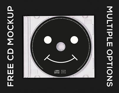 FREE TRANSPARENT CD MOCKUP