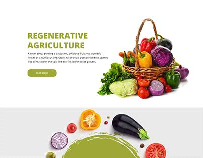 Regenerative Agriculture Landing Page