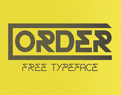 Order   Free Typeface