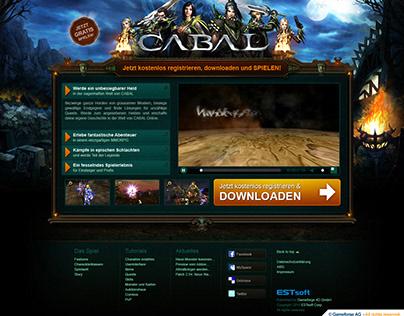 Cabal Online Landing Page - UI / UX Design
