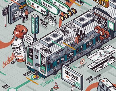 Retro+Oldskool Series 1 : Seoul Subway Line 2 (2020)