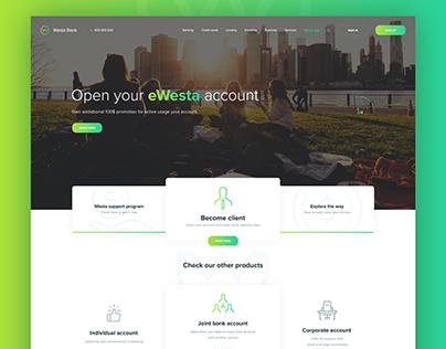 "ewesta Bank "" website & Mobile apps "" PSD Free"