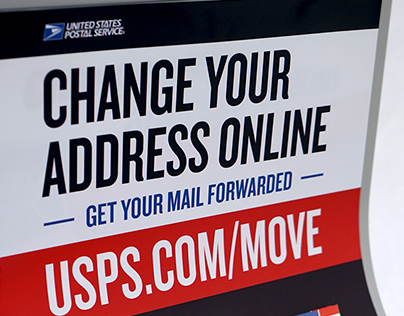 Retail Displays // USPS Internet Change of Address