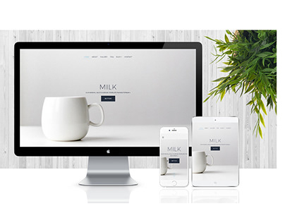 Milk - Multi-Purpose, Minimal Template for Bootstrap 4