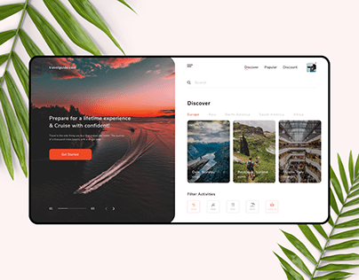 Travel Filter UI/UX Concept