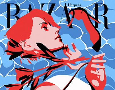 Harper's Bazaar Korea 24th Anniversary Illustration