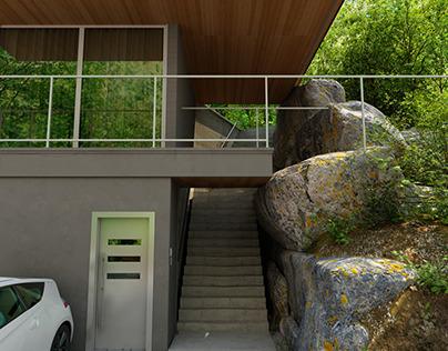 Villa at Sundbyberg Stockholm 3D Exterior Visualisation