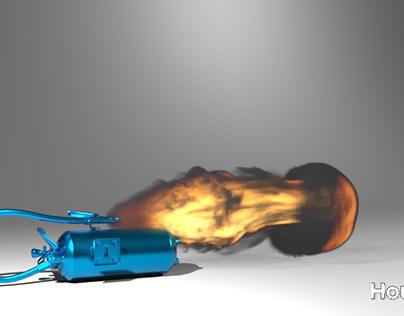 pyro fire thrower!