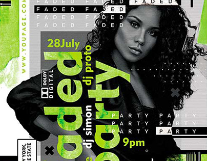Faded Party – Premium PSD Flyer Template