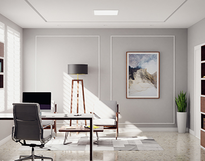 Office - interior visualization