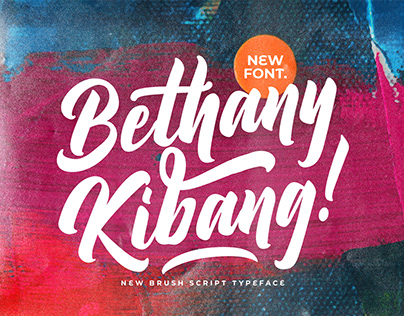 Bethany Kibang - Bold Script Font