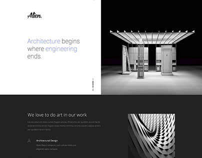 Alien Architecture Web Design
