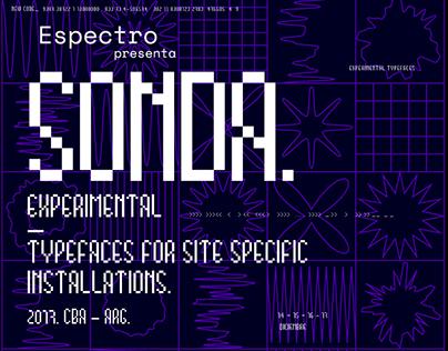 SONDA. EXPERIMENTAL TYPEFACES