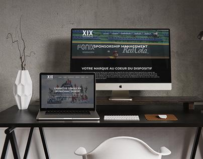 Site WordPress pour XIX Sports Consulting