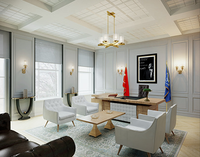 Luxury Style Office Design