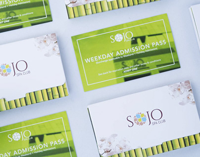 SoJo Spa Club 10-Pack Coupon Holder
