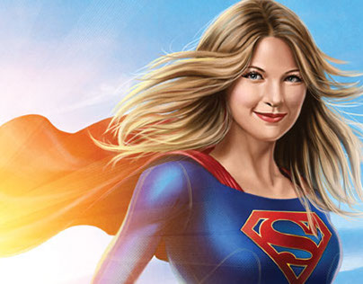 Supergirl from TV pinup