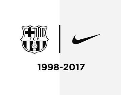 Every FCBarcelona shirt made by Nike
