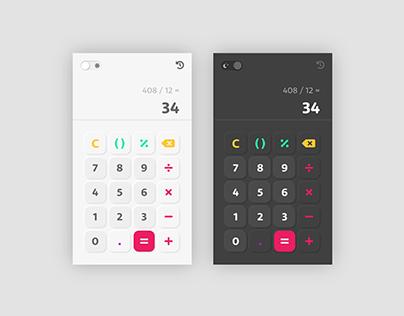 Daily UI #004 : Calculator