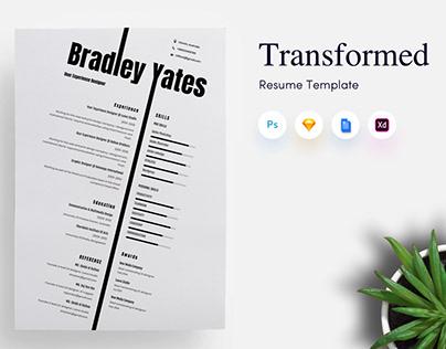Transformed CV Resume Template