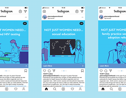 Fake Planned Parenthood Carousel Instagram Ad