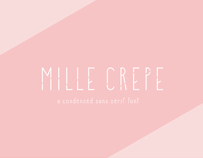 Mille Crepe :: A Display Typeface