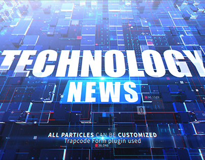 Technology News -After Effects Project File