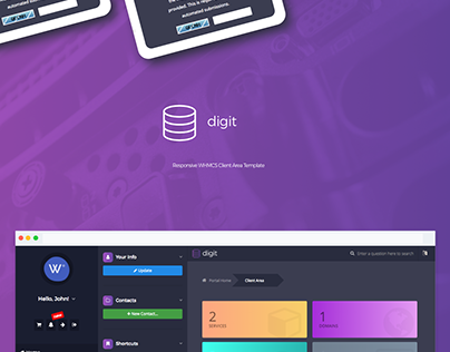 Digit - Responsive WHMCS Client Area Template