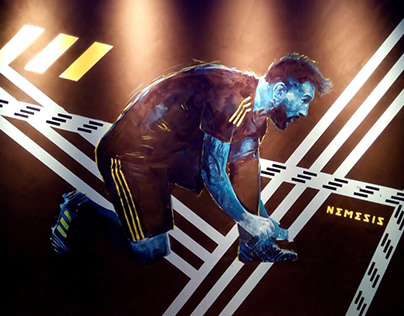 Messi Mural for Adidas