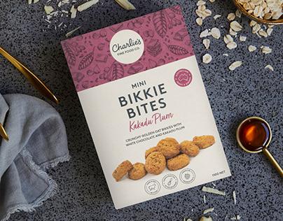 Charlie's Mini Bikkie Bites Packaging Illustrations