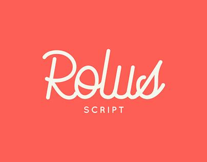 Rolus | A Script Based Font