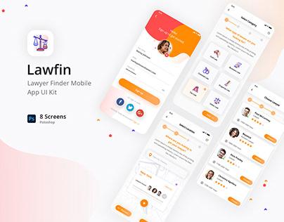 Lawfin - Lawyer Finder Mobile app UI Kit (Buy Now!)