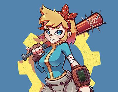 Ilustración: Fallout-Vault girl