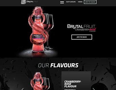 Brutal Fruit website UI