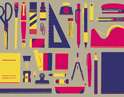 Colorful stationery