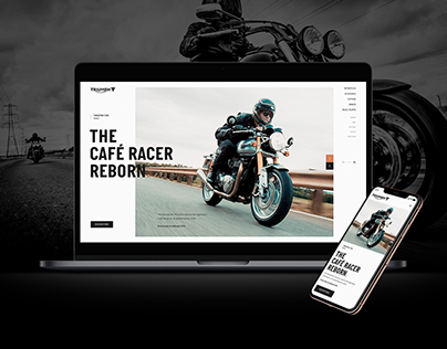 Triumph Motorcycles - Website Concept