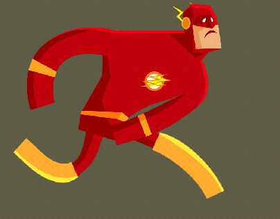 Mr.Flash running to toilt funny - character animation