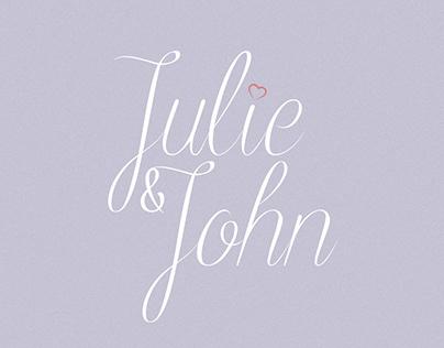 Julie & John's Wedding Invitation