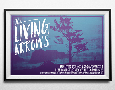 The Living Arrows Gig Poster