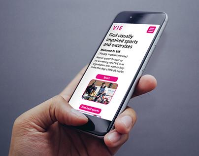 Inclusive design for multiple platforms: VIE website