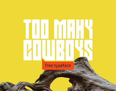 Too Many Cowboys   free typeface