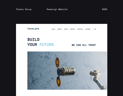 The Thales - New Corporate Website 2020