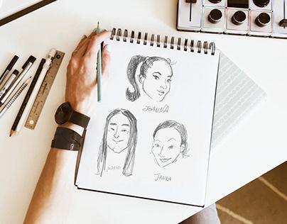 "Rysunki i koncept strony ""o nas"""