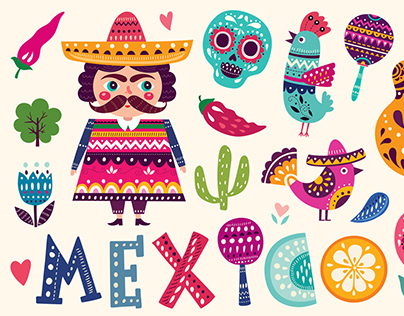 Mexican colorful collection