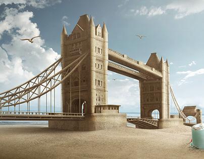 Tower Bridge Sandcastle (Digital Imaging Project)