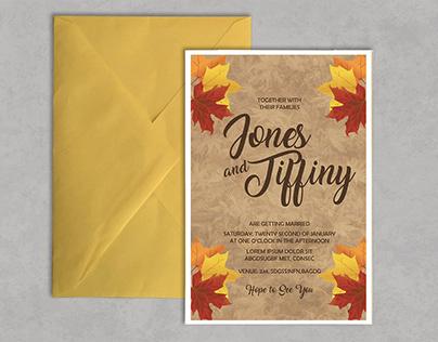 Autumn Themed Wedding Card